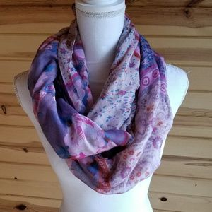 Accessories - Floral Pink Purple Infinity Scarf New